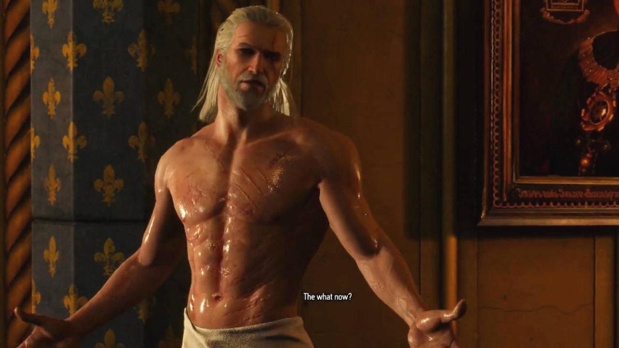 Wiedźmin 3 - Geralt w ręczniku