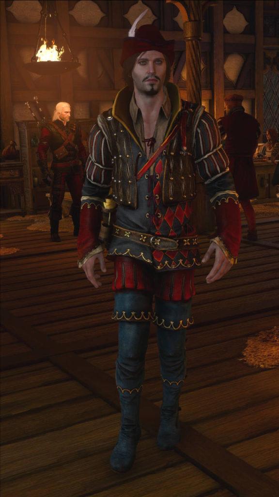 Wiedzmin 3 Jaskier - modyfikacja na nowy, stary kostium