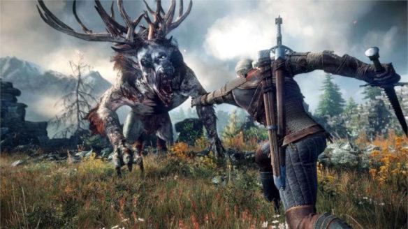Wiedźmin 3 Geralt walczy z bestią