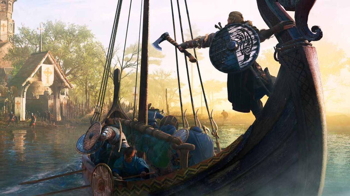 Assassin's Creed Valhalla - Eivor na statku