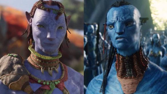 Avatar Frontiers of Pandora - porównanie gry z filmem, dwójka postaci obok siebie