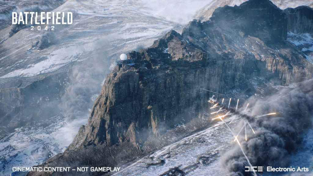 Battlefield 2042 - mapa Rozłam dziejąca się w Ziemi Królowej Maud, Antarktyda