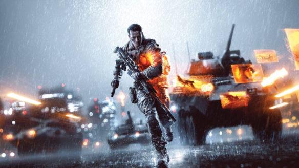 Battlefield 4 - grafika promująca grę z biegnącym żołnierzem
