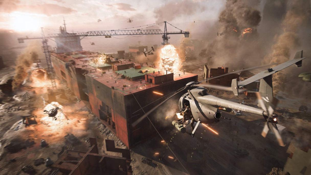 Battlefield 6 - helikoptery ostrzeliwują budynek