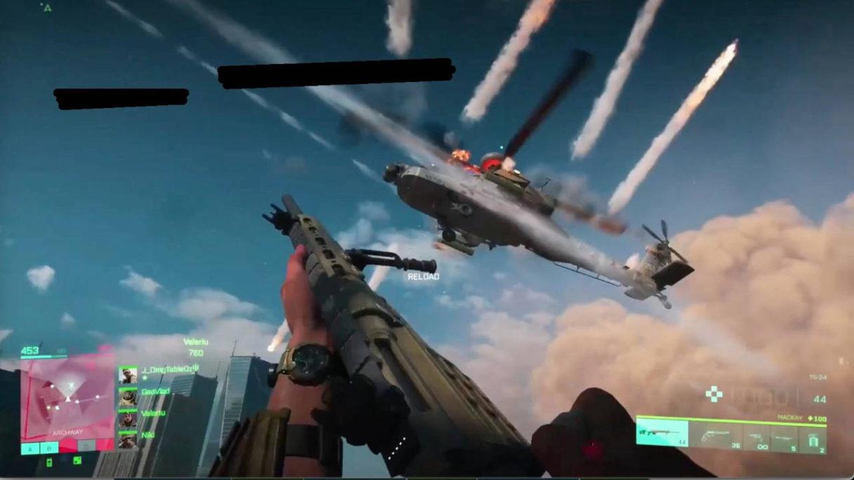 Battlefield 6 - śmigłowiec pod ostrzałem