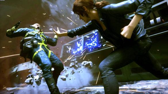 Control - główna bohaterka ciska kinetycznie przeciwnikiem