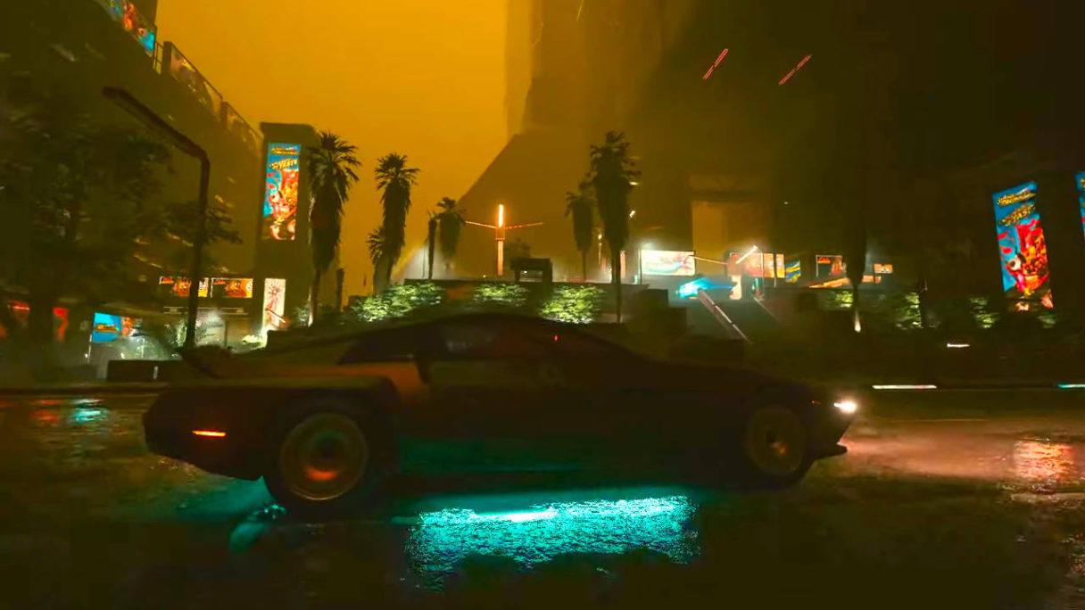 Cyberpunk 2077 - kwaśne deszcze w Night City
