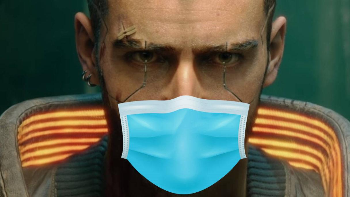 Cyberpunk 2077 - VI z maseczką na twarzy