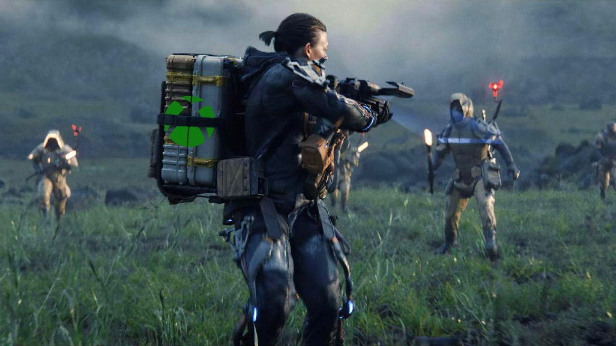 Hideo Kojima - Death Stranding z logo Xbox