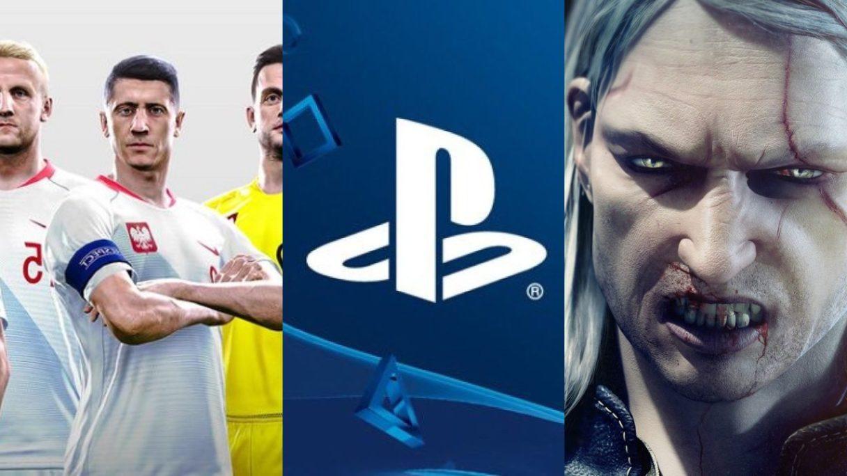 DoGRYwka - Lewandowski i inni polscy piłkarze, logo PlayStation, wkurzony Geralt z Wiedźmin 3