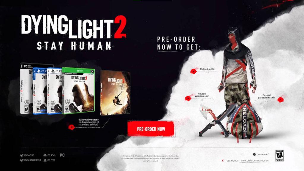 Dying Light 2 - bonusy z pre-ordera