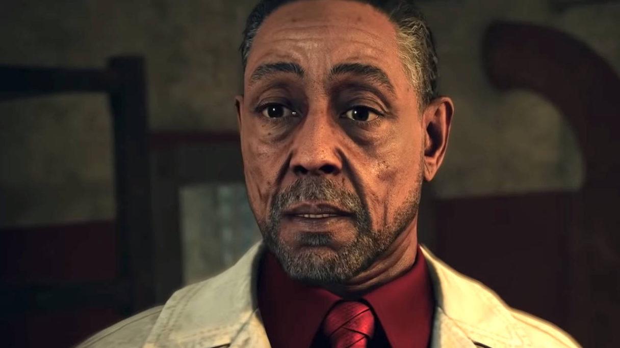 Far Cry 6 - główny antagonista gry ze zdziwioną twarzą