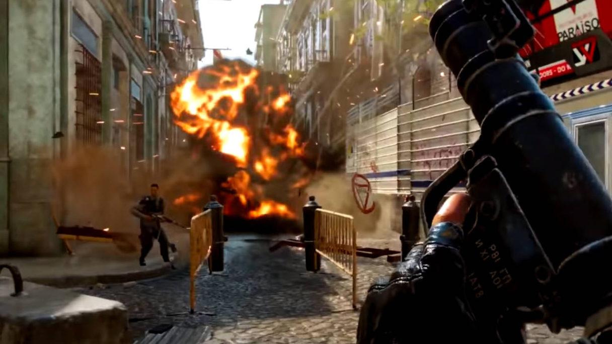 Far Cry 6 - wybuch po strzale z RPG