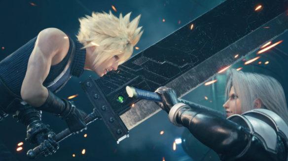 Final Fantasy VII Remake - walka Cloude'a z przeciwnikiem