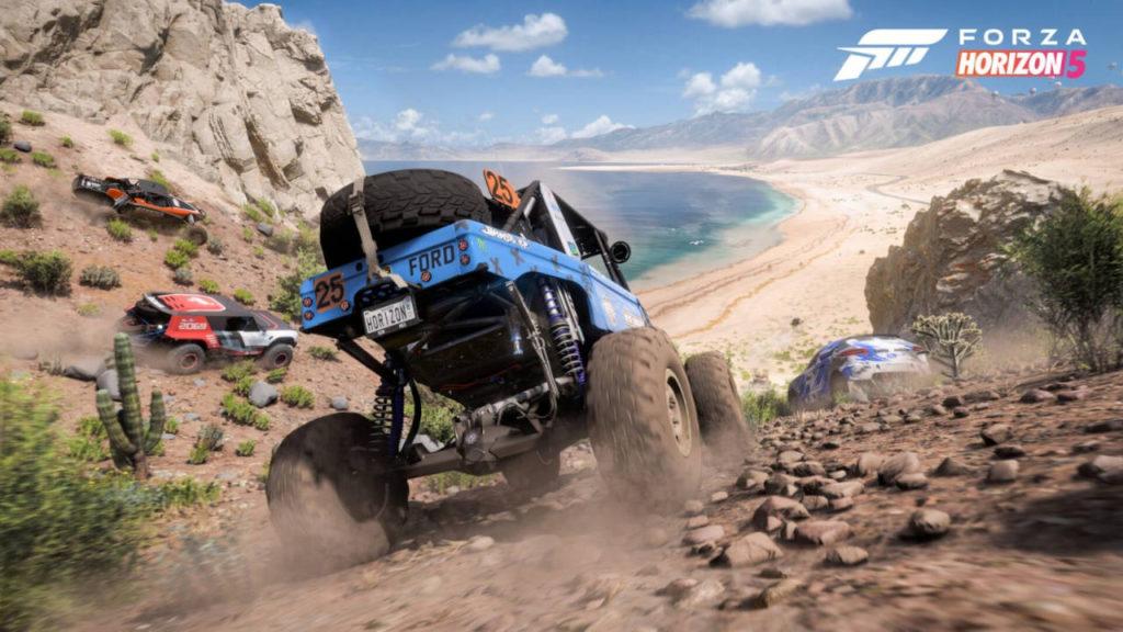 Forza Horizon 5 - wyścig samochodów po pustyni