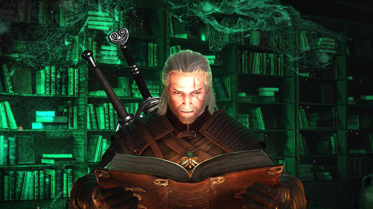 Geralt czyta księgę - Wiedźmin 3