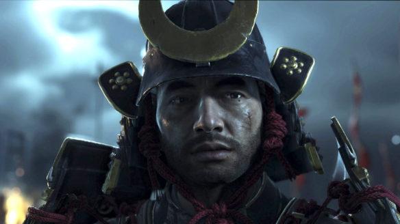 Ghost of Tsushima - zbliżenie na twarz wojownika