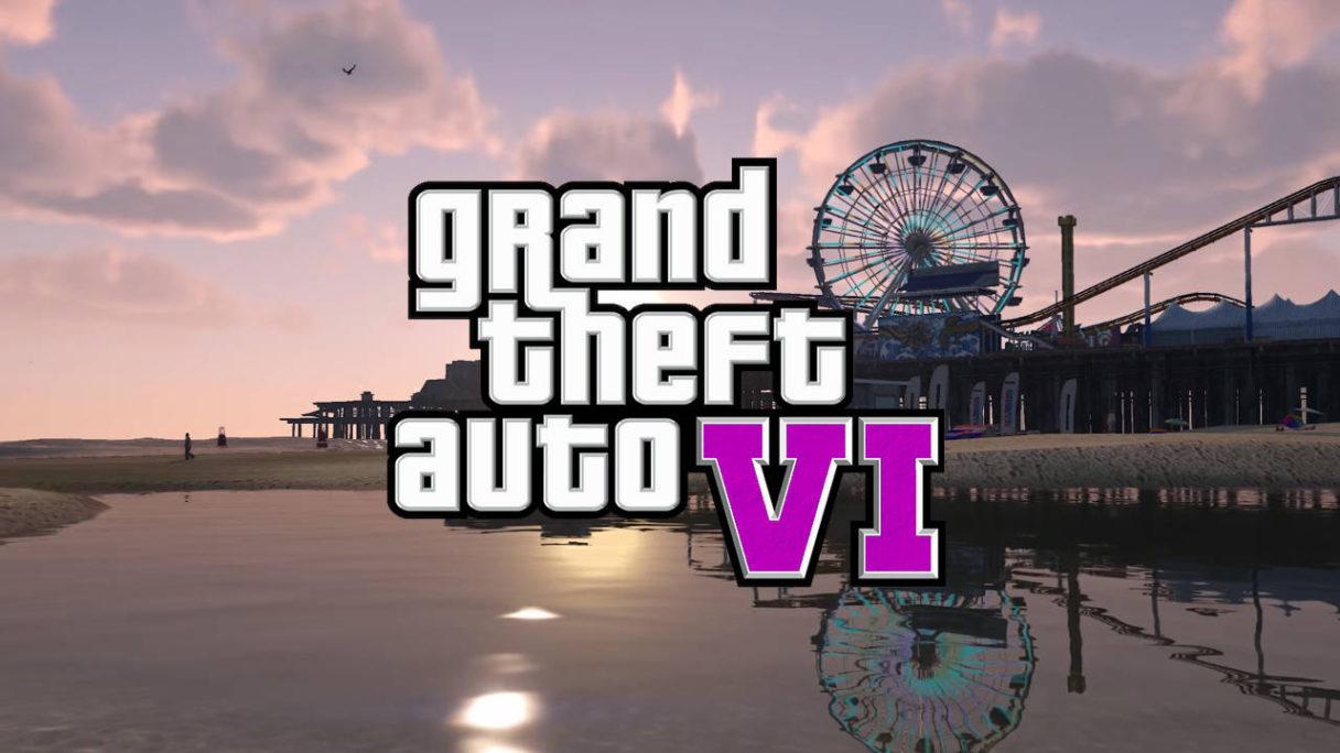 logo GTA 6 na tle parku rozrywki