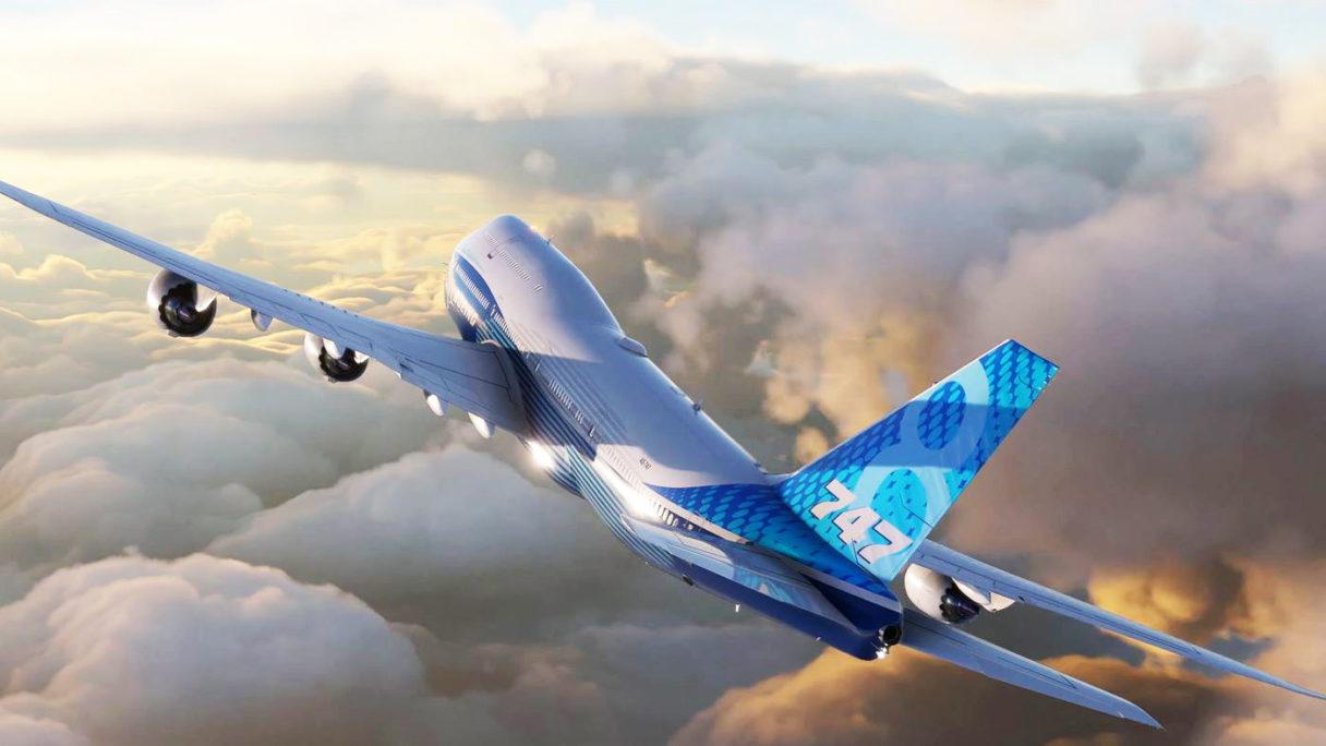 Microsoft Flight Simulator - zrzut ekranu z samolotem