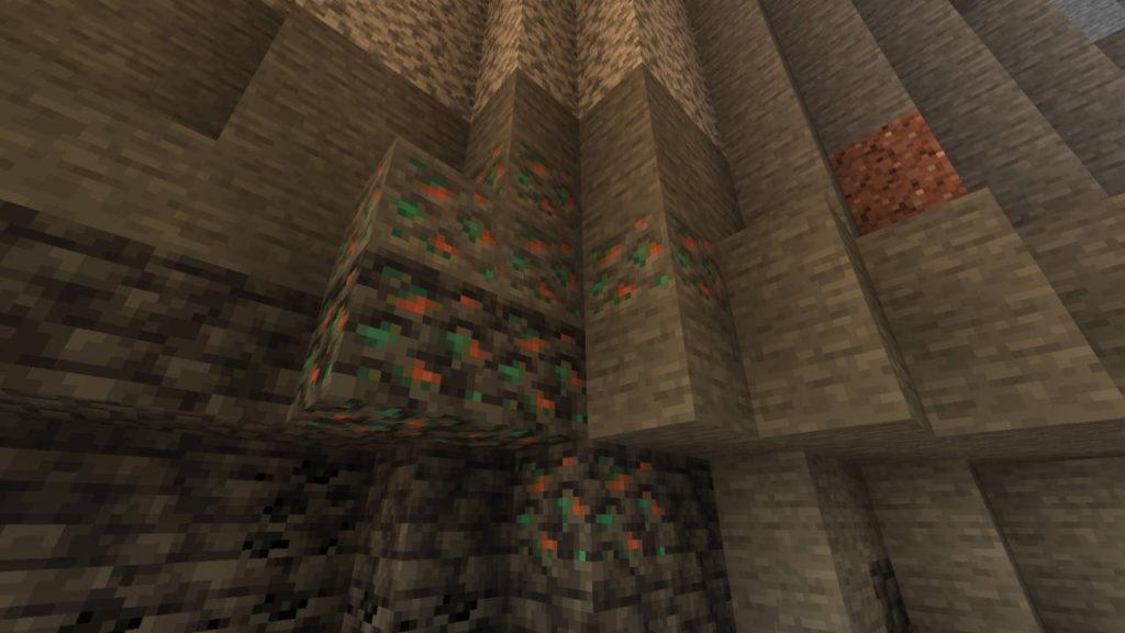 bloki złoża miedzi w wariancie zwykłym i łupkowym