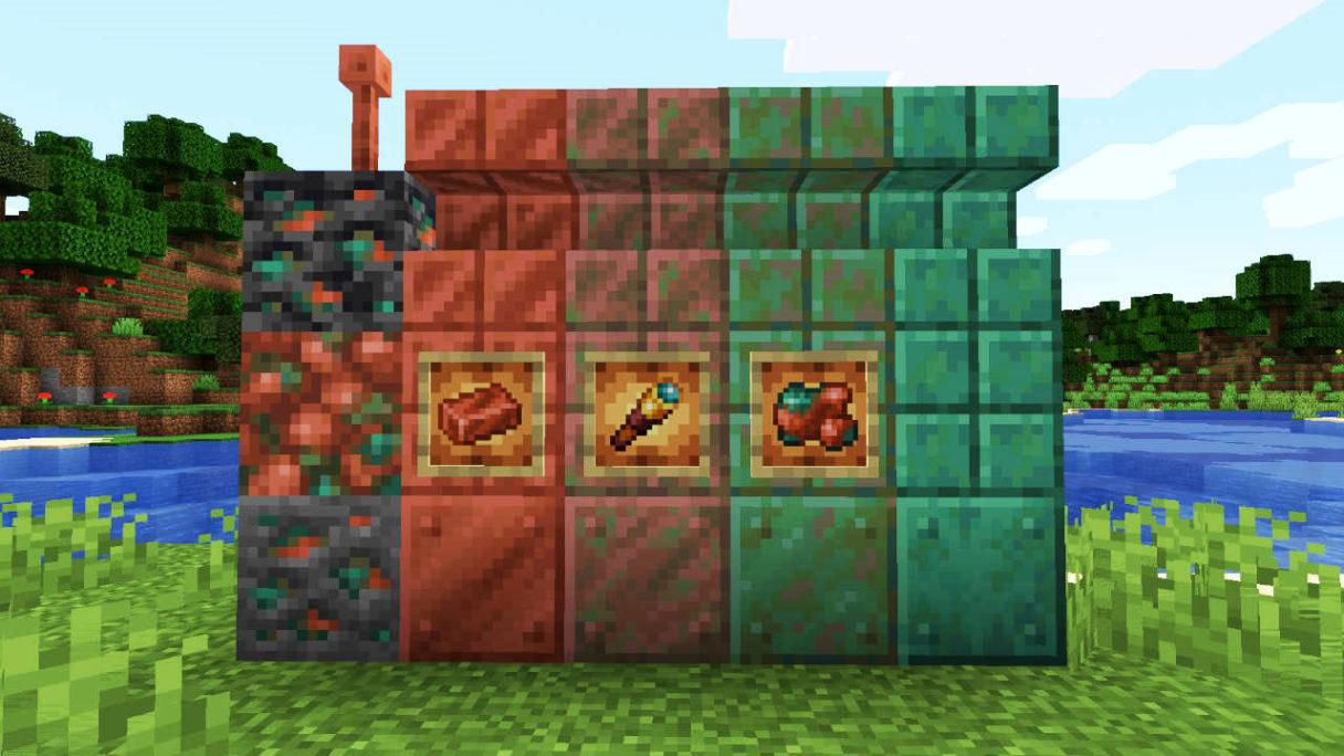 Miedź w Minecraft - wszystkie bloki i przedmioty związane z miedzią