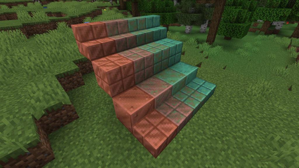 Miedź w Minecraft - wszystkie warianty bloków miedzi