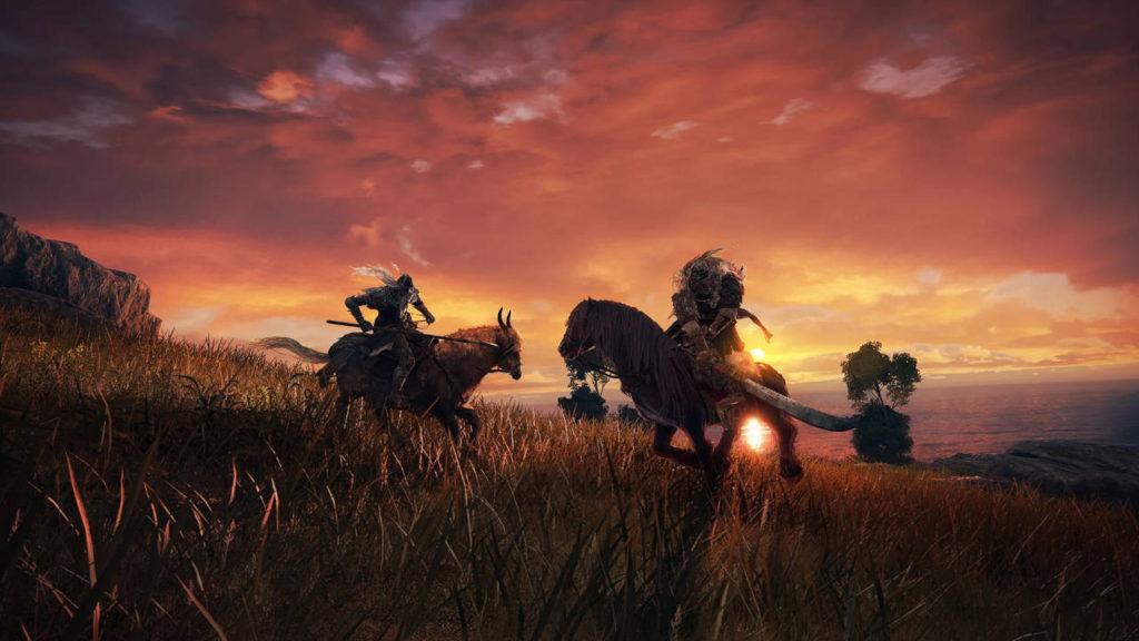 Pojedynek rycerzy na koniach w Elden Ring