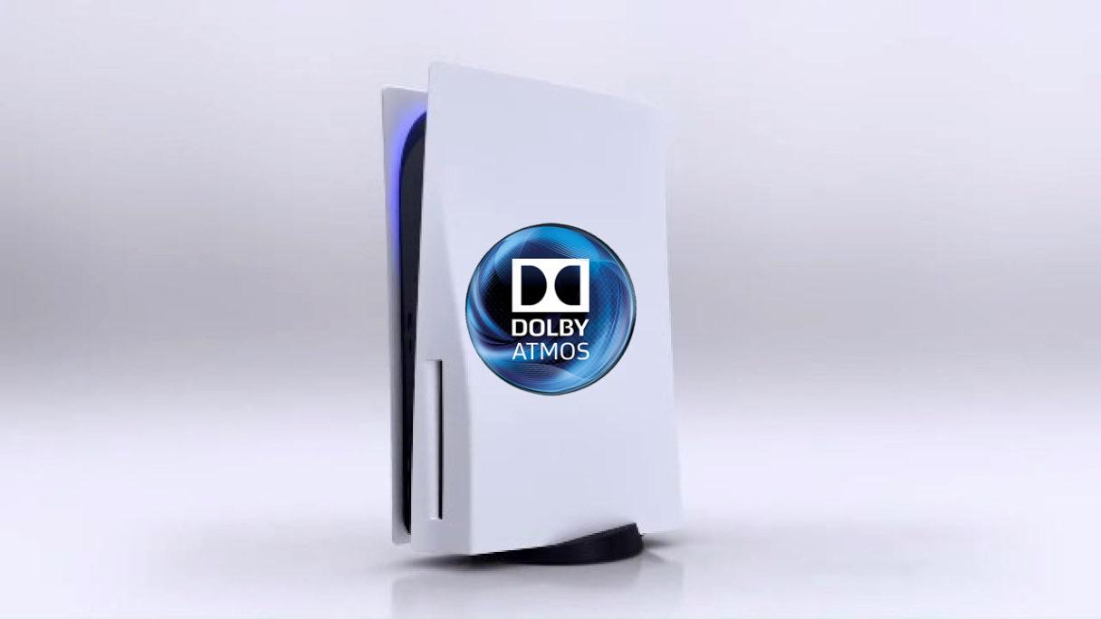 PS5 z logo Dolby Atmos