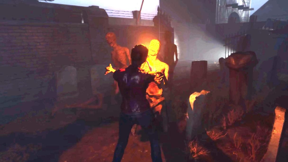 Resident Evil Code Veronica - bohaterka walczy z zombie