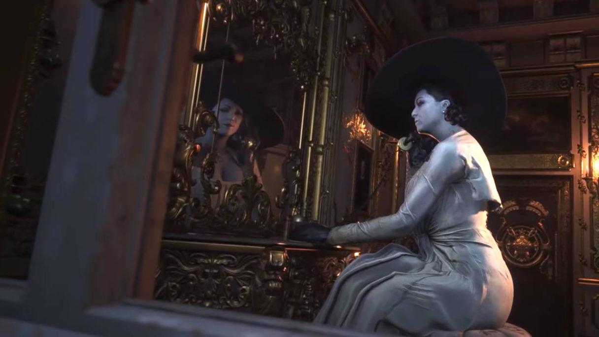 Resident Evil Village - Lady Dimitrescu rozmawia przez telefon