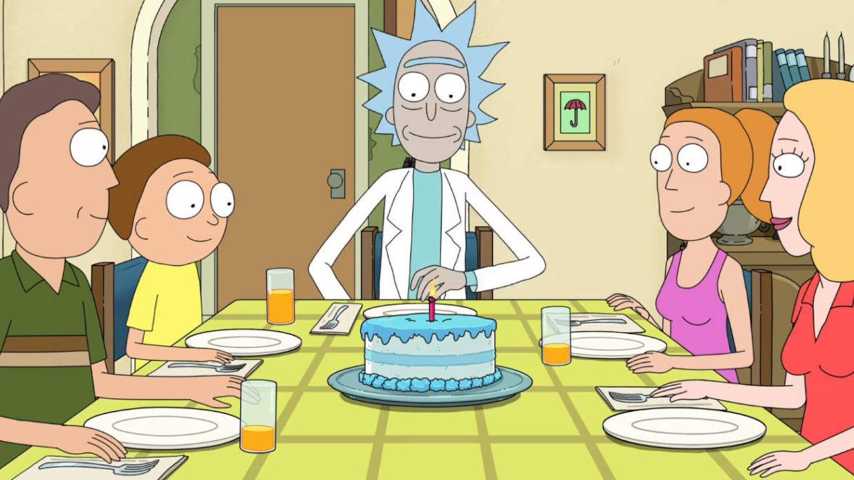 Rick and Morty - rodzina bohaterów zasiadła do stołu, aby zjeść tort