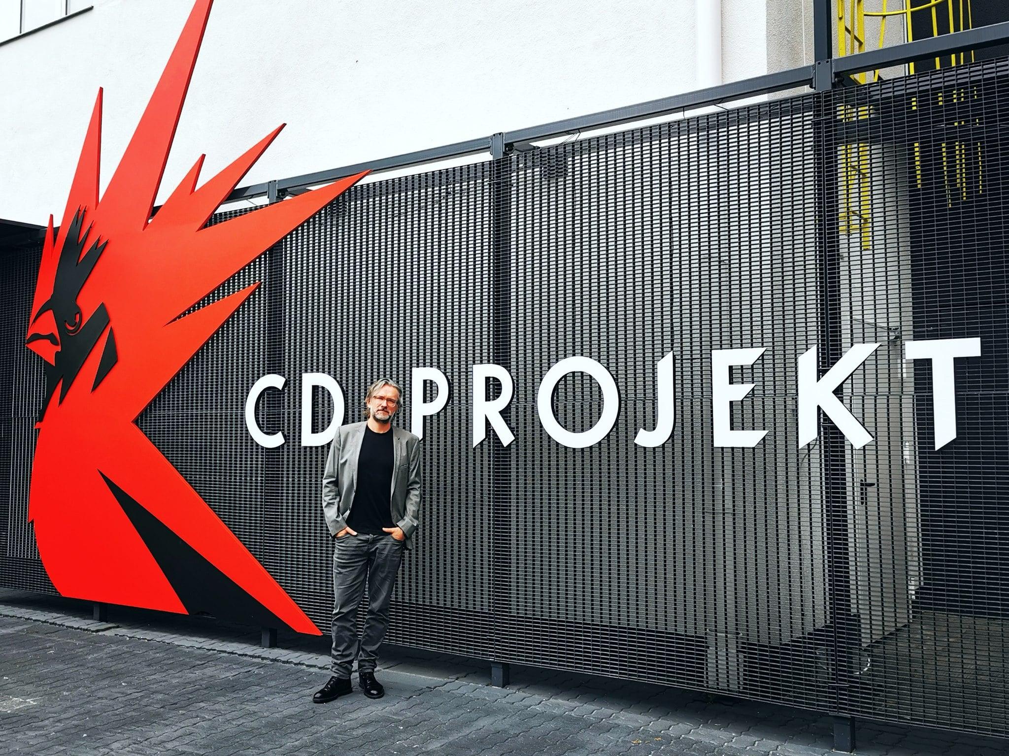 Piotr Rosiński w siedzibie CD Projekt