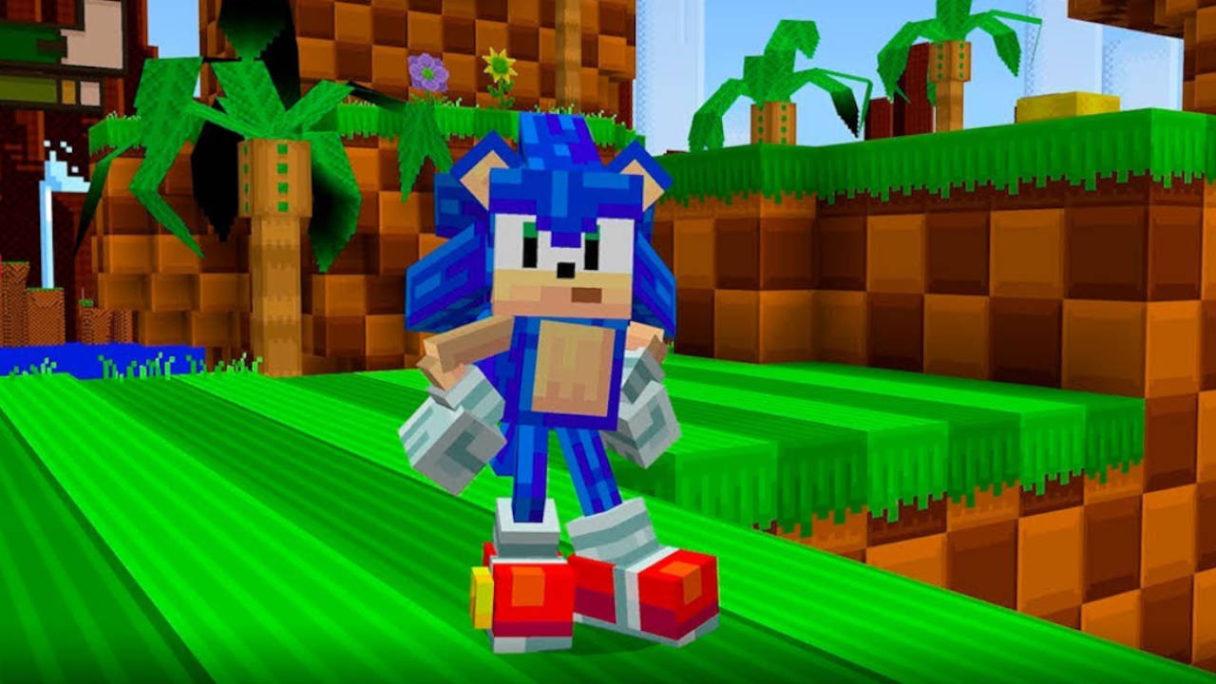 Sonic The Hedhehog w Minecrtaft Bedrock Edition