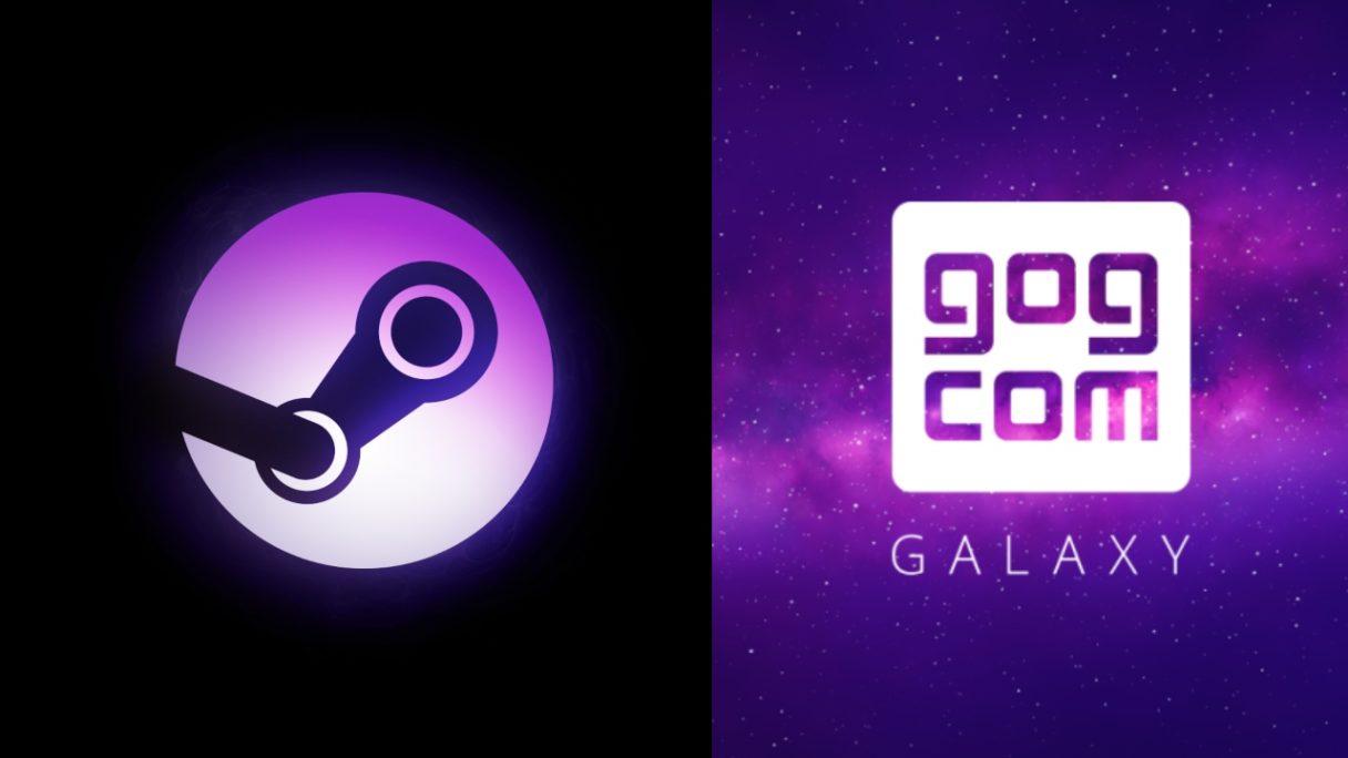 Gra za darmo na GOG i Steam - logo platform