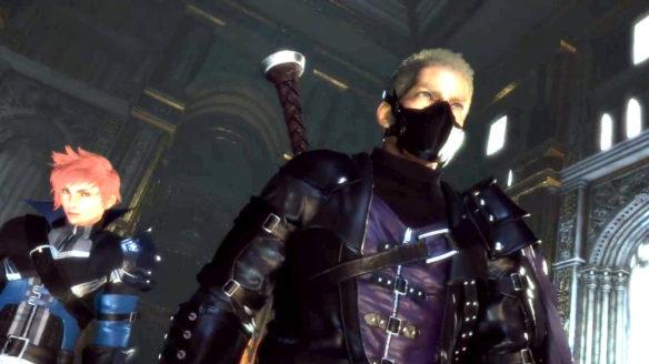 Stranger of paradise final fantasy origin - ujęcie z demo gry z bohayerami idącymi do przodu