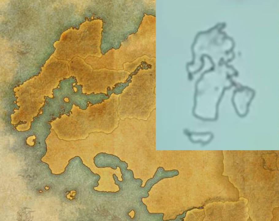 TES VI mapa porównana z odpryskiem farby z trailera Starfield