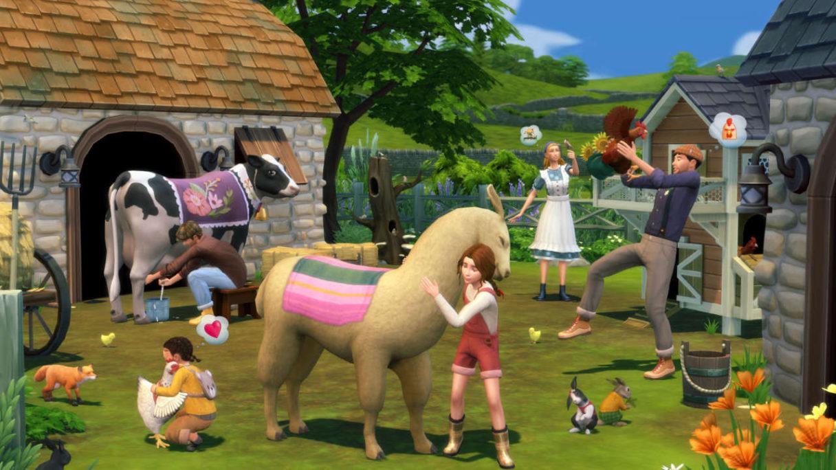 The Sims 4 - grafika prezentująca nowości z Expansion Pack Wiejska Sielanka
