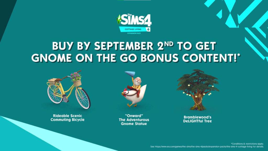 The Sims 4 - grafika prezentująca nowości z pre-ordera Expansion Pack Wiejska Sielanka