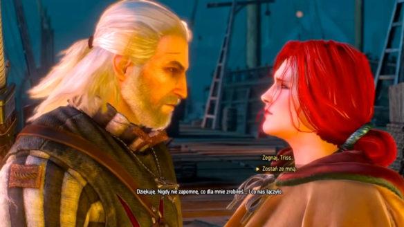 Wiedźmin 3 - dialog Geralta i Triss w porcie