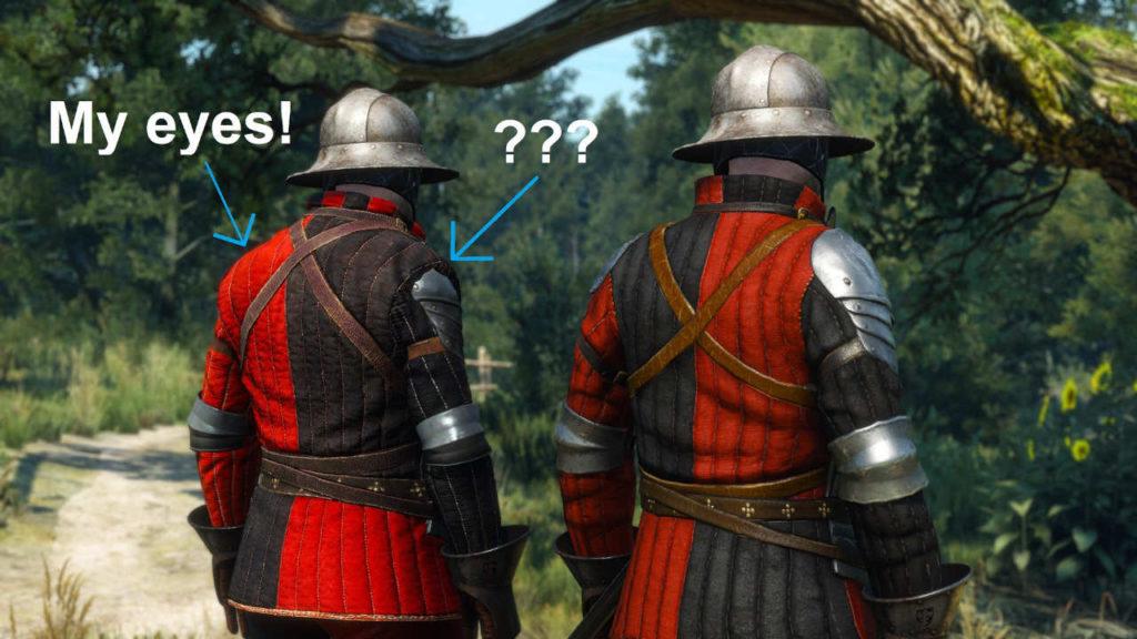 Wiedźmin 3 - dwójka żołnierzy redańskiej armii - porównanie