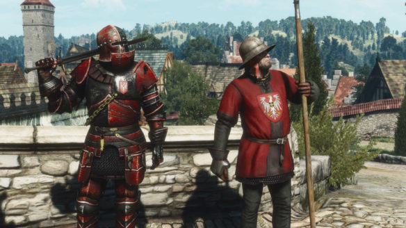Wiedźmin 3 - dwójka żołnierzy redańskiej armii w nowych strojach