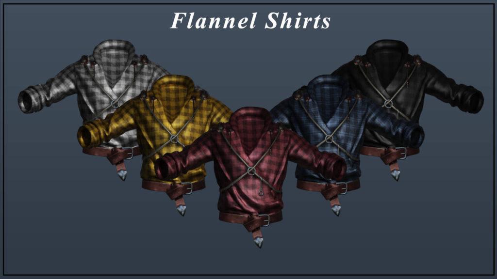 Wiedźmin 3 - flanelowe koszule w różnych kolorach