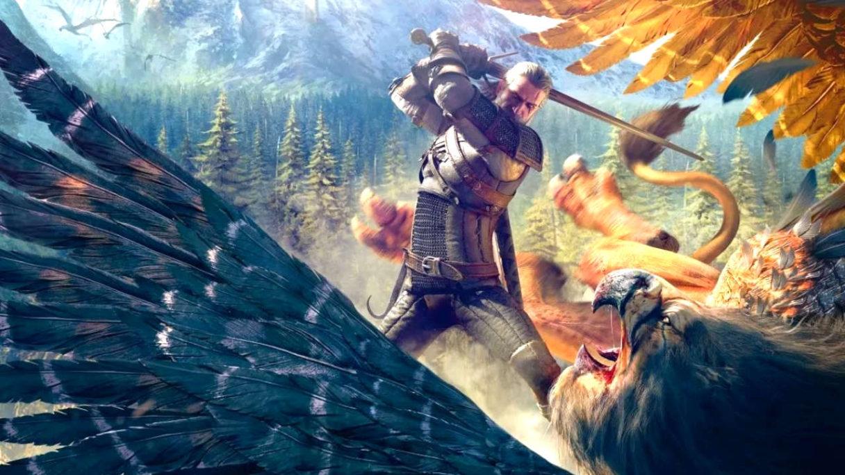 Wiedźmin 3 - Geralt walczy z gryfem