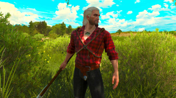 Wiedźmin 3 - Geralt we flanelowej koszulki
