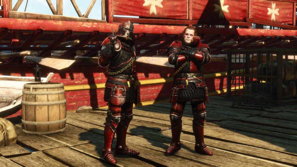 Wiedźmin 3 - kapitan i żołnierz redańskiej armii w nowych strojach