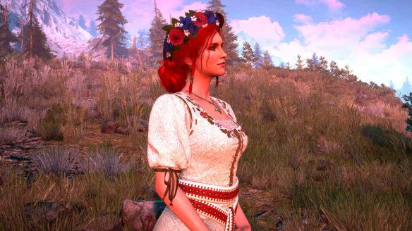 Wiedźmin 3 - Triss w sukni w kwiaty