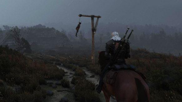Wiedźmin 3 z mrocznym modem - zrzut ekranu