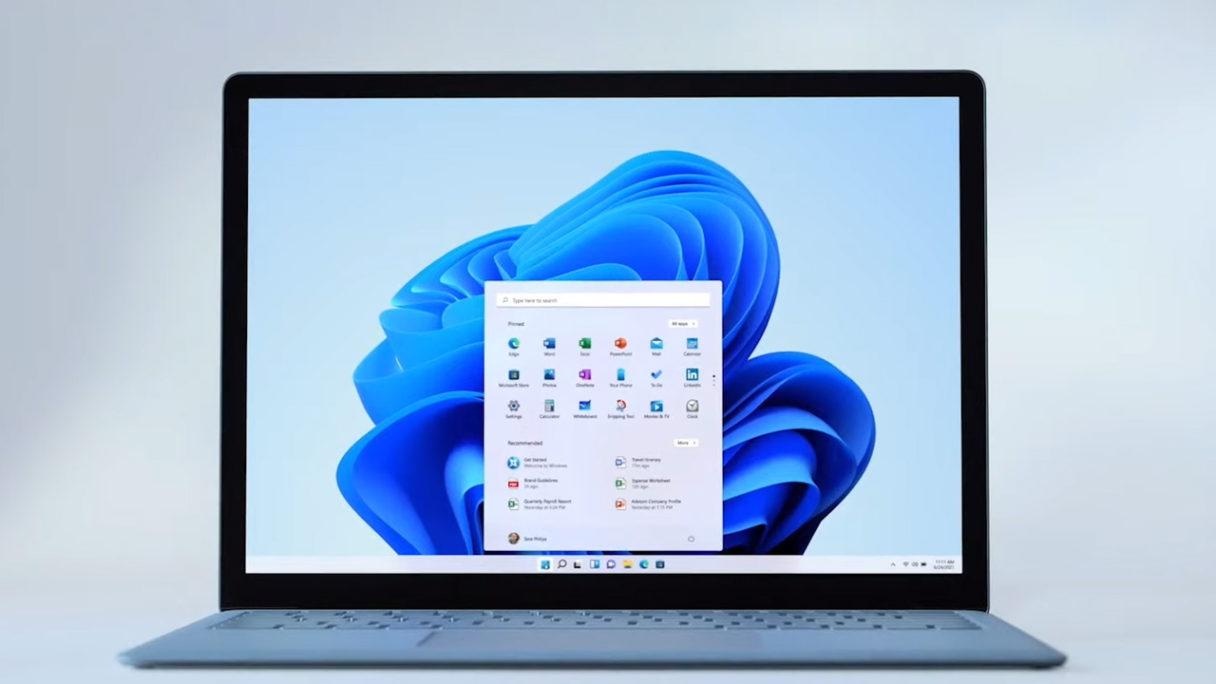 Windows 11 - zdjęcie laptopa z systemem