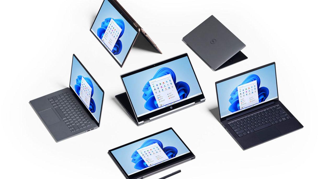 Windows 11 uruchomiony na kilku komputerach
