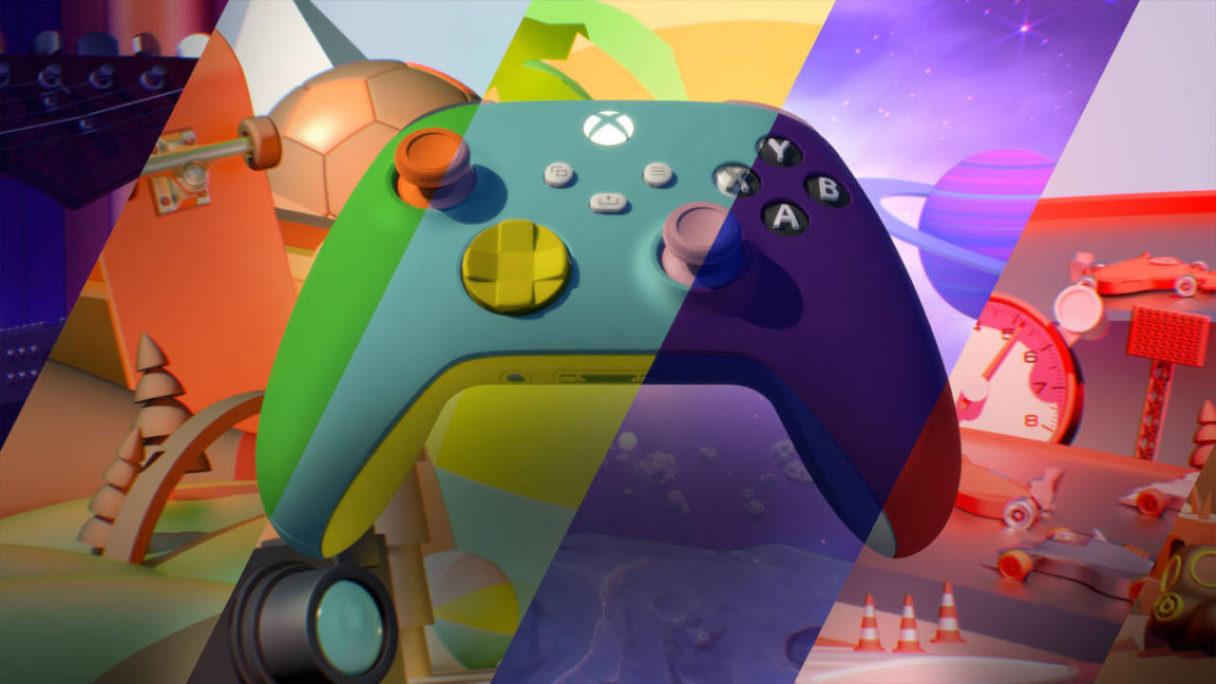 Xbox Design Lab - grafika z kontrolerem w różnych wersjach